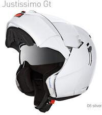 Caberg Justissimo GT White Flip Up Motorcycle Helmet Double Sun Visor xs