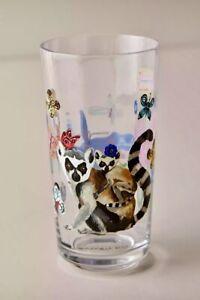 NEW ANTHROPOLOGIE JUICE GLASS TITANIA TROPICAL COLLECTION LEMUR NATHALIE LETE