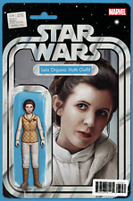 Star Wars 36 Action Figure variant cover Marvel Comics Leia Organa Hoth Outfit