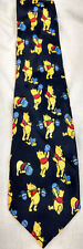 Vintage Disney Winnie the Pooh Eating a Pot of Honey Necktie Colorful