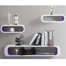 Floating Wall Shelf Shelves Storage Lounge Cube Mounted Display MDF Wood U057 White-purple