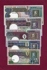 PORTUGAL PORTUGUESE Angola  SET 20 + 50+100+ 500 + 1000 Escudos 1973 UNC