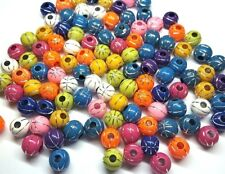 12mm Multi-colored / Silver Basketball Sports Pony Beads - Bag of 30