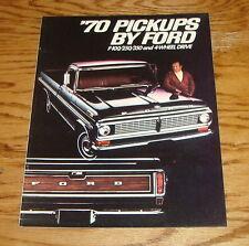 Original 1970 Ford Pickup F-100 F-250 F-350 Sales Brochure 70