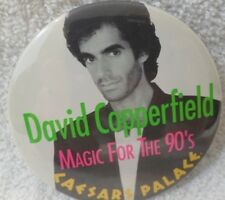 David Copperfield Magic For The 90's Caesars Palace Hotel Casino Button Pinback
