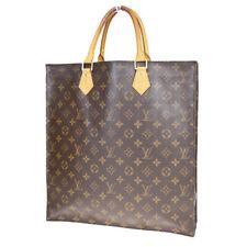 Authentic LOUIS VUITTON Sac Plat Hand Bag Monogram Leather Brown M51140 38EZ726