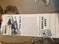 75-4 ephemera 1951 advert folded regular army brick walls have had it