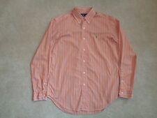 Men's Ralph Lauren Classic Fit Orange Striped Long Sleeve Shirt - Size M