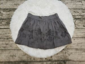 American Eagle Outfitters AEO Women's Gray Embroidered Skirt Size Medium M