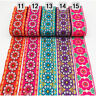 7 Yards Retro Floral Embroidered Jacquard Ribbon Trim Braid Clothing Accessories