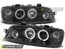 Headlights For FIAT PUNTO 2 10.99-06.03 ANGEL EYES BLACK..