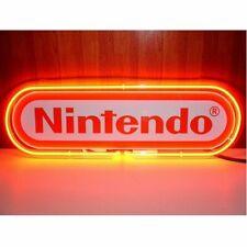 "New Nintendo Logo Game Room Bar Party Light Lamp Decor Neon Sign 17"""