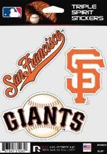 San Francisco Giants Die Cut Decals 3 Pack Car Window, Laptop, Tumbler MLB, Rico