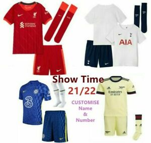 21/22 All Kids Football Kits Boys Youth Adult Soccer Shirt -Training Suits