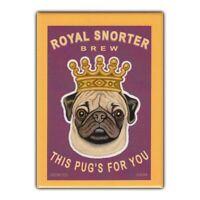 Retro Pets Refrigerator Magnet - Royal Snorter Brew (Beer), Pug - Advertising