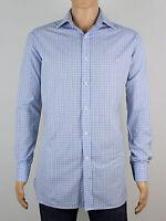 """Samuel Windsor mens blue check long sleeve shirt size xl xxl neck 16"""" (M5022)"""
