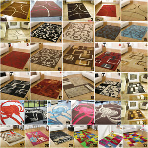 New Retro Vintage Small - Large Area Rugs NonShed Easy Clean Clearance Rugs Sale
