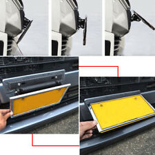 Universal Adjustable Carbon Fiber Number Auto Racing License Plate Frame Holder