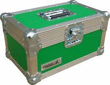 "7"" Single 200 Swan Flight Case Vinyl Record Box (Green Rigid PVC)"