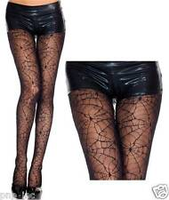 Women's Full Black Spiderweb Pantyhose Spider Web Lace Tights Halloween Costume