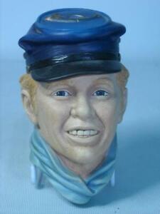 1986 Bossons DRUMMER BOY 6 Photos Two Original Labels Chalkware Head Plaque