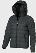 Elevate Kanata Down Men's Light Jacket With Hood Steel Grey New