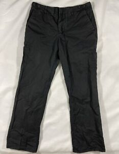 James Perse Button Fly Black Chino Khaki Pants 32x30 Men Lightweight Side Tabs