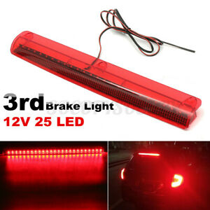 12V 25 LED Car High Mount Level 3RD Third Brake Light Stop Rear Tail Lamp Red