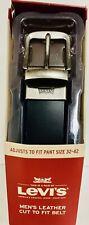 LEVIS Men's Leather Cut to Fit Belt  Black (Pant size 32-42)-R