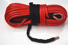 Red 14mm*45m Synthetic Winch Rope,Boat Winch Cable,Off-road Tow Rope,Winch Line