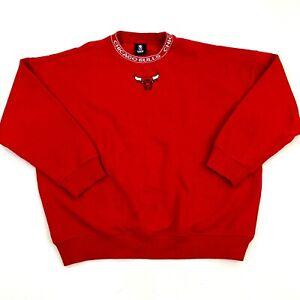 UNK Chicago Bulls NBA Women's Sz S Red Sweatshirt Embroidered