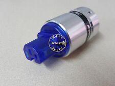 One BJ50F Red Copper Rhodium Plated AC IEC Female Power Plug Aluminum Body