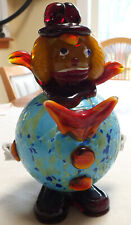"Gorgeous Murano Art Glass Venetian Clown 9"" Tall Rare Heavy"