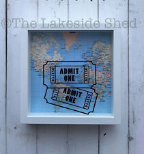 Events Ticket Cinema Stub Memory Box Shadow Frame Drop Box