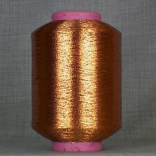 Cobre Lurex brillo metálico de hilados - 500 Gramos De Cono-Libre 1st Class Post * Nuevo *