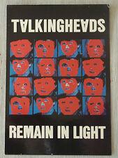 Carte Postale Postcard - TALKING HEADS - Remain In Light -