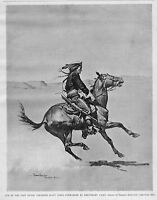 FREDERIC REMINGTON CHEYENNE SCOUT CORPS FROM FORT KEOGH LIEUTENANT CASEY HISTORY