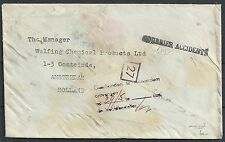 "Germany? 19?? AirCrashcover ""COURRIER ACCIDENTS"" and postmark"