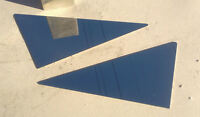 YAMAHA XJR 1300 MIRROR POLISHED STAINLESS SIDE PANEL COVERS TRIANGLES 99 - 01