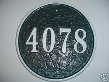 10 Inch Round Custom Cast Aluminum House number Plaque