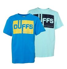 Boys DuFFS Printed Casual Short Sleeve Jersey T Shirt Sizes Age from 5 to 13 Yrs