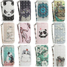 3D Patterns Leather Wallet Stand Case Cover For Samsung M20 M10 A70 A50 A40 A30