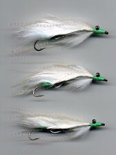 White Snake Flies Trout Flies x3 all size 8 hook All tied in the UK code 200