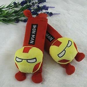 2 x NEW Ironman Iron-man Safety Car Seat Belt Shoulder Harness Cushion Pad Case