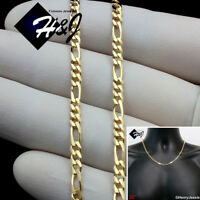 "20""MEN WOMEN 18K Gold Filled 3mm Gold Figaro Link Chain Necklace*GFN1"