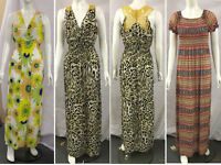 Womens Ladies Floral Pleated Maxi Dress Racer Back Long Maxi Floral Printed 8-16