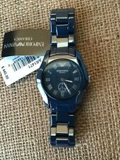 New Emporio Armani Ladies Navy Blue Ceramic Watch  AR1471 SOLD OUT $445+