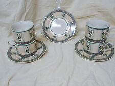 Lot 4 Tea Cup 3 Saucer Winslow Manor PTS International Interiors Stoneware VGC