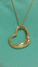 TIFFANY & CO. 18K YELLOW GOLD  PERETTI MEDIUM OPEN HEART PENDANT/ NECKLACE