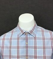 BANANA REPUBLIC Men's SLIM FIT Blue Striped Long Sleeve Shirt Size XL